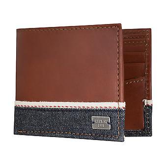 Replay handväska coin purse wallet läder brun 5102