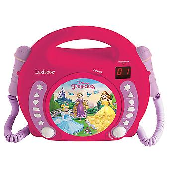 LEXIBOOK CD-Player mit 2 Mikrofonen Disney Princess (Modell-Nr. RCDK100DP)