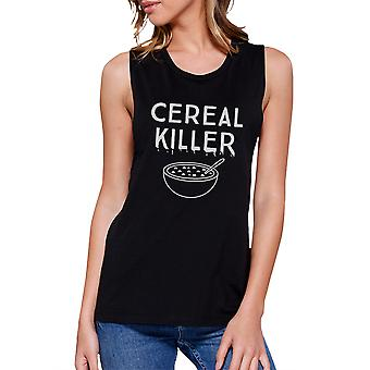 Cereal Killer Funny Halloween Shirt Womens Cute Graphic Muscle Top