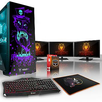 Felle GOBBLER Gaming PC, snelle Intel Core i7 8700 K 4.5 GHz, 2 TB HDD, 16 GB RAM, RTX 2070 8 GB