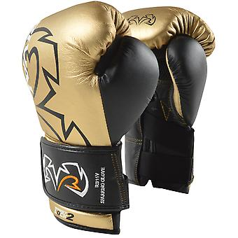 Rival RS11V-Evolution Hook and Loop Sparring Boxing Gloves - Gold