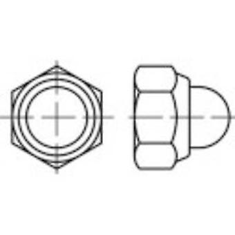 Porcas cegas de TOOLCRAFT 135413 Hex M4 DIN 986 aço zinco galvanizado 100 PC (s)