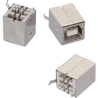 USB type B stående WR-COM Socket, lodret lodret opretstående 61400413321 Würth Elektronik Indhold: 1 stk(er)