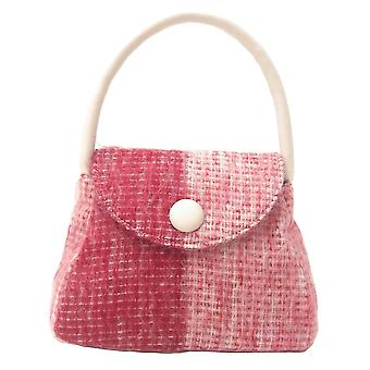 Harris Tweed oder Tartan Handtasche S (Mohair rot)