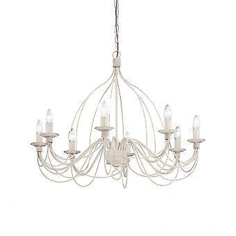 Ideale Lux Corte 8 lamp hanger lichte witte Antico