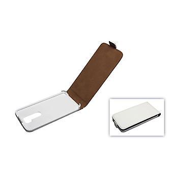 Mobile case white case (flip slim) for mobile LG G2