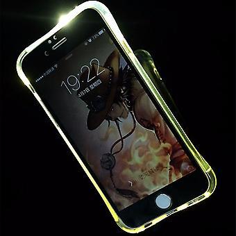 Móvel caso LED Licht ligar para telefone Apple iPhone 8 transparente