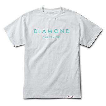 Diamond Supply Co. Pierre taillée T-shirt blanc