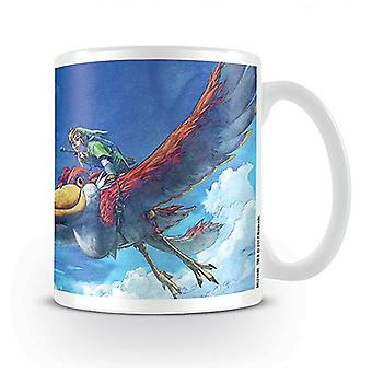 The Legend of Zelda Tasse Skyward Sword weiß, bedruckt, aus Keramik.
