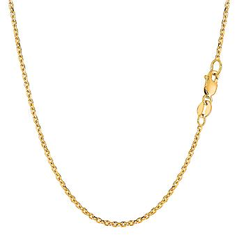 18k Yellow Gold kabel link chain ketting, 1.5 mm