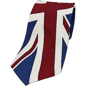 David Van Hagen Union Jack silke slips - blå/rød/hvit