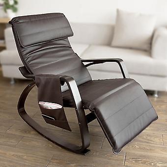 Cuir d'unité centrale de SoBuy à bascule fauteuil avec repose-pieds réglable, FST20-BR