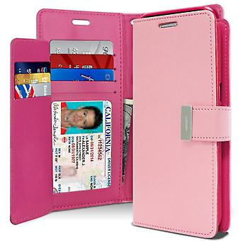Mercury GOOSPERY Rich Diary for Samsung Galaxy S8 Plus-Pink