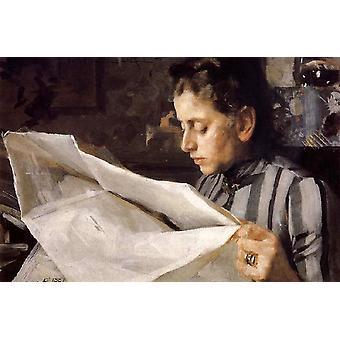 Emma Zorn Reading, Anders Zorn, 40,2 x 60,6 cm