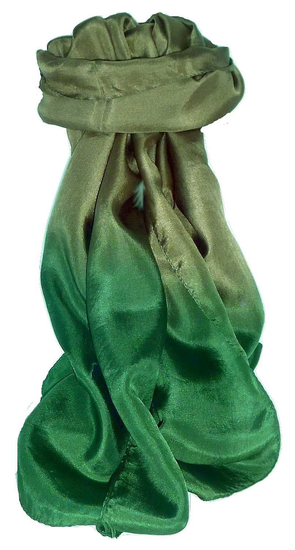 Tabby Weave Pure Silk Scarf Emerald by Pashmina & Silk