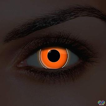 i-Glow Orange UV Contact Lenses (Pair)