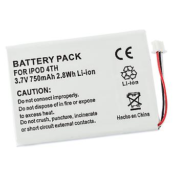 Battery for Apple iPod 4th Generation 4 Gen M9282LL/A A1099 616-0206 M9282J/A 616-0183 20GB 40GB 60G