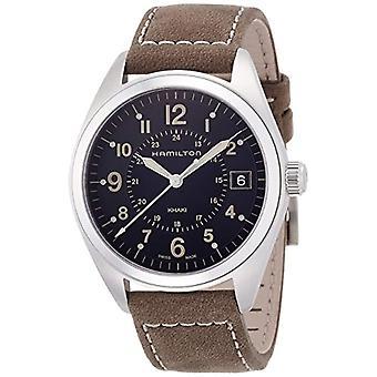 Hamilton analoog kwarts mannen horloge met lederen H68551833