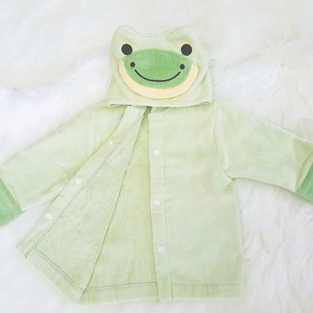 Friendly Frog baby bath robe