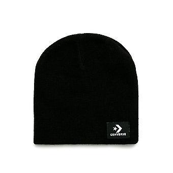 عكس فصل الشتاء القياسية الكلاسيكية التريكو قبعة قبعة صغيرة سيدات-أسود