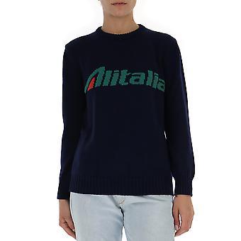 Alberta Ferretti 098116131290 Mujeres's Suéter de lana azul/verde