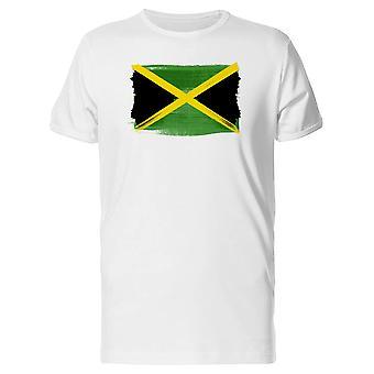 Jamaïque drapeau Paintbrush Tee homme-Image de Shutterstock