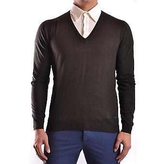 Costume National Ezbc066030 Men's Green Cotton Sweater