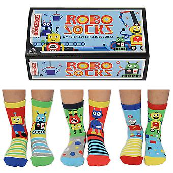 United Oddsocks Robo Socks Gift Set For Little People