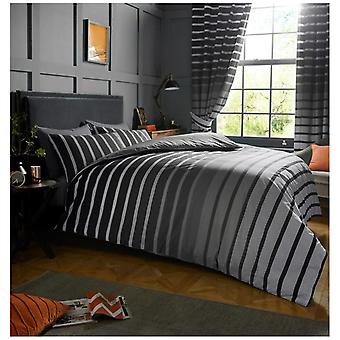 Oscar Stripes Reversible Polycotton Duvet Quilt Cover Bedding Set Pillow Case