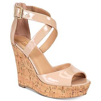 Material Girl Womens Steffy Peep Toe plataforma Casual sandálias