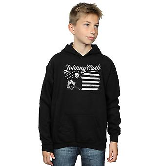 Johnny Cash Boys Flag Stripes Hoodie