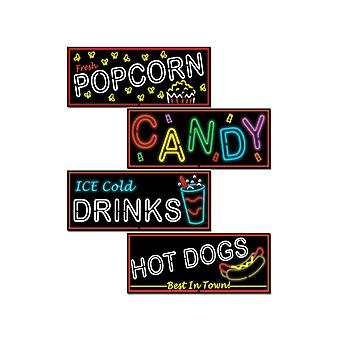 Neon Food Sign recortes