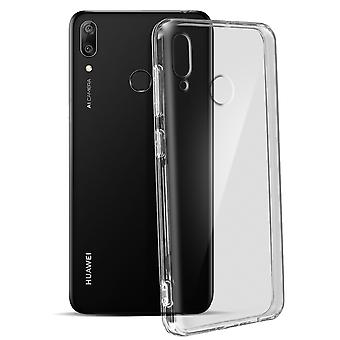 Tough rear clear case + shock absorbing silicone bumper for Huawei Y7 2019