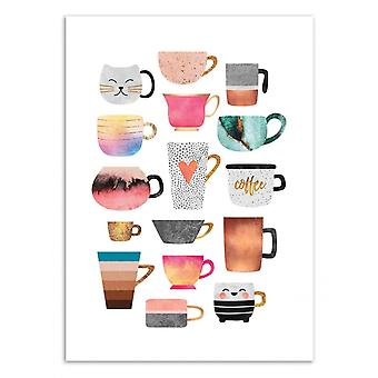 Art-Poster - Coffee Cup Collection - Elisabeth Fredriksson