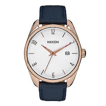 Nixon il proiettile in pelle oro rosa / blu marino (A4732160)