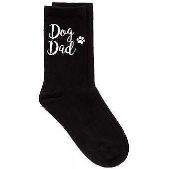 Mens pies tata cielę czarny skarpety