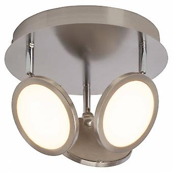 3 Light Spotlight Satin Nickel, Opal Ps Plastic