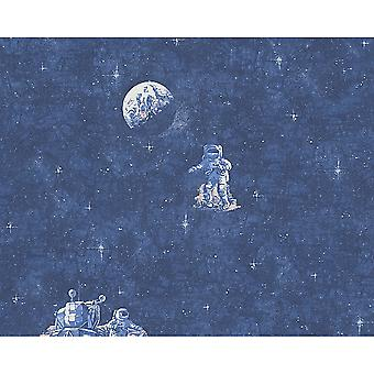 A.S. Creation AS Creation Space Astronaut Pattern Star Motif Glowing Childrens Wallpaper 304891