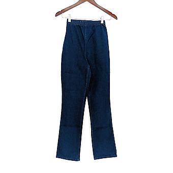 Denim & Co leggings XXS strekk støvel cut blå A42907