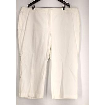 Alfani Plus Pants Cropped Control Pant White Womens