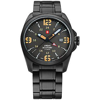 Swiss Military Swiss Quartz Analog Man Watch with SM34034.03 Stainless Steel Bracelet
