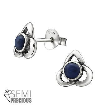 Celta - Opal plata de ley 925 y Semi preciosos zarcillos - W31237X
