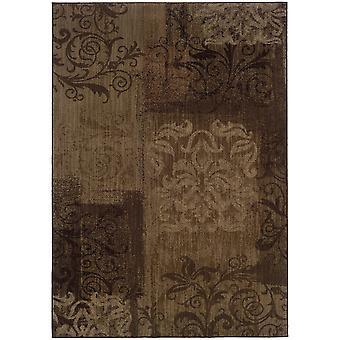 Allure 060b1 brown/beige floral area rug (9'10