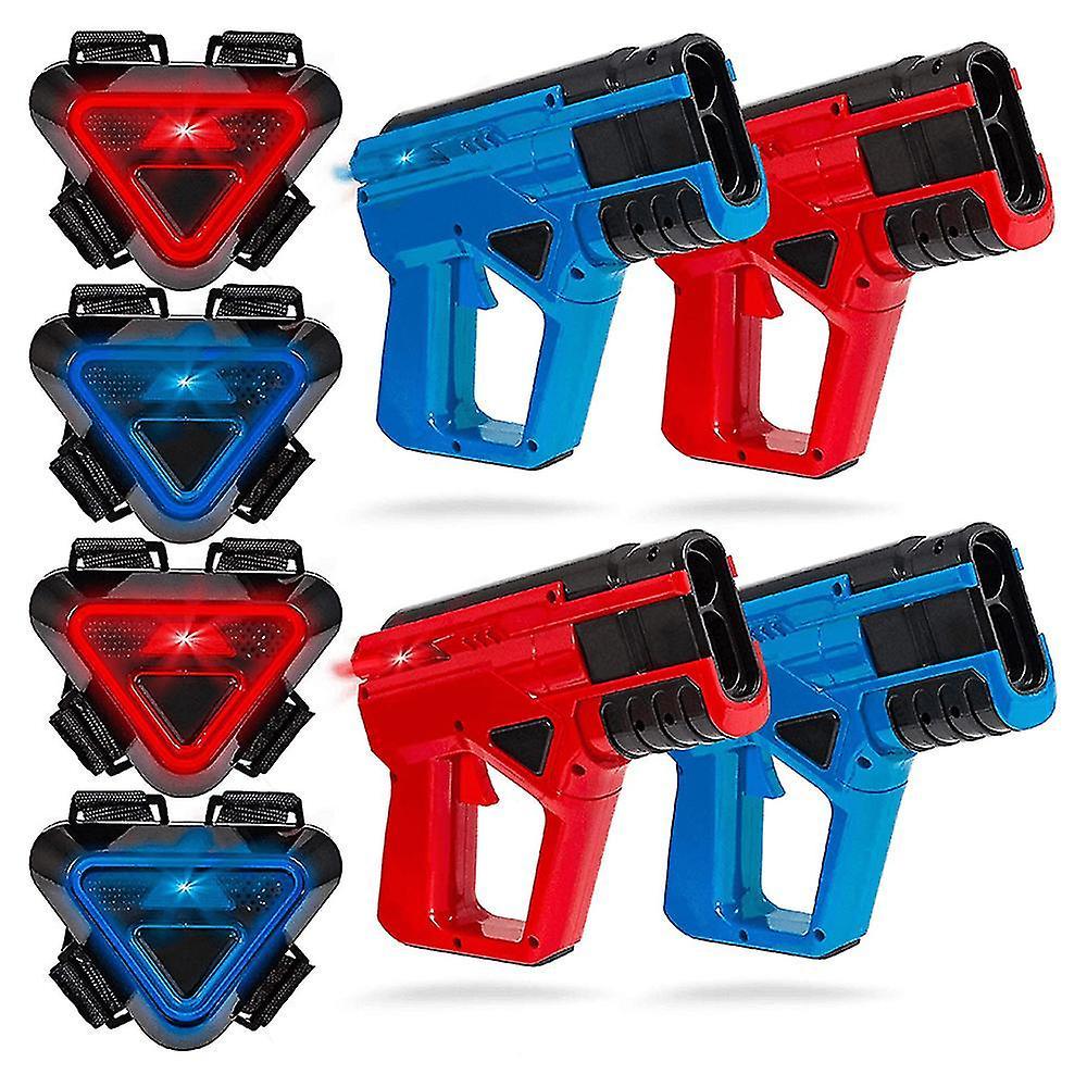 Sharper Image Set-4 pistols + 4 Vests