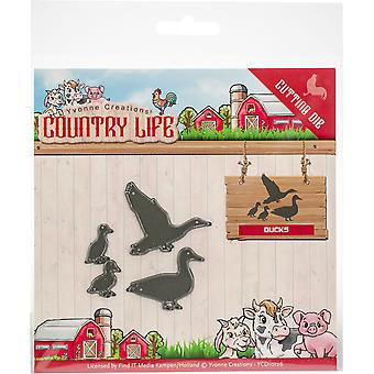 Find It Trading Yvonne Creations Die-Ducks, Country Life