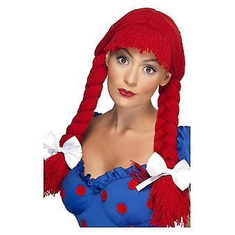 レディース縫いぐるみ人形かつら赤ハーネス デザインの凝った服アクセサリー