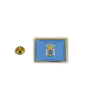 Pine PineS Badge Pin-apos;s Metal Epoxy With Butterfly Pinch Flag Spain Melilla