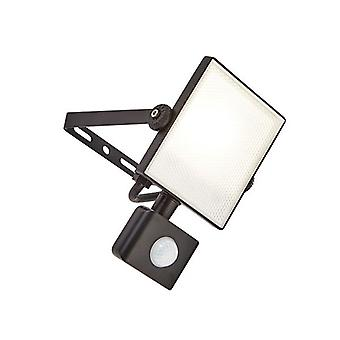 Saxby Lighting Scimitar Pir Integrado LED PIR 1 Luz De pared al aire libre Luz Texturizada Negro, Escarchado IP44 73452