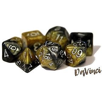 Halfsies Dice - DaVinci Polyhedral (Poly 7 Set)