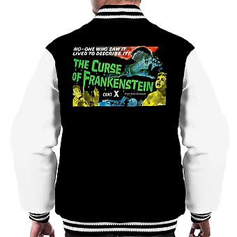 Hammer Horror Films Curse Of Frankenstein Chained Hand Men's Varsity Jacket